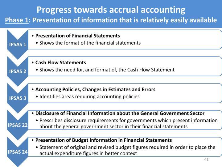 Progress towards accrual accounting