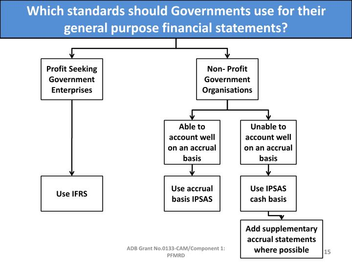 Which standards should Governments use for their general purpose financial statements?