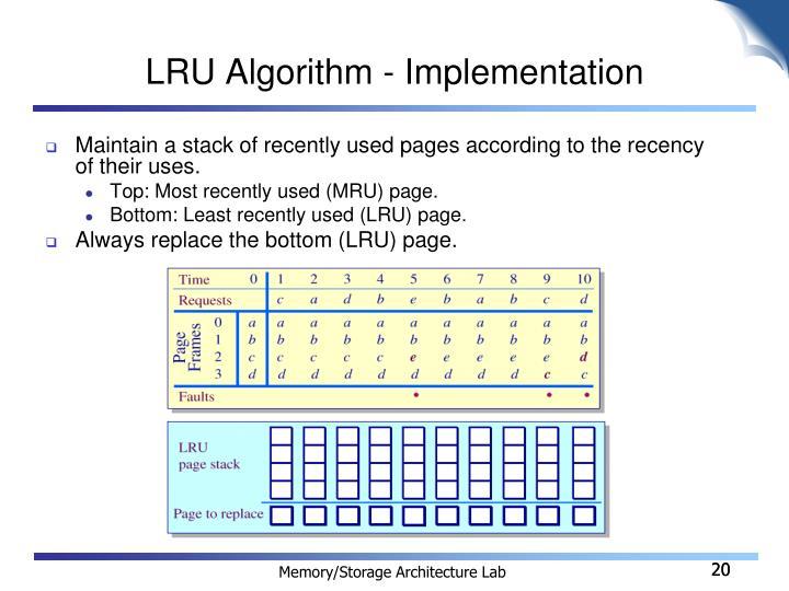 LRU Algorithm - Implementation