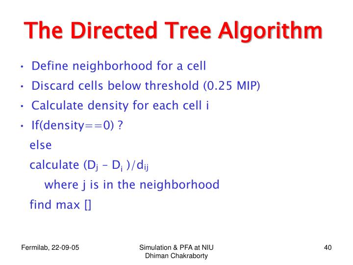The Directed Tree Algorithm