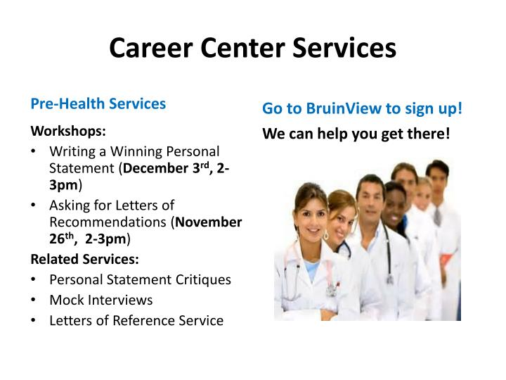 Career Center Services