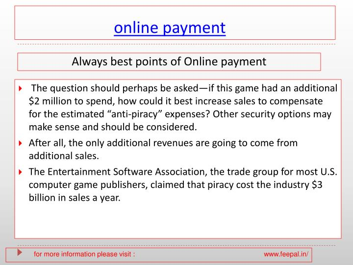 online payment n.