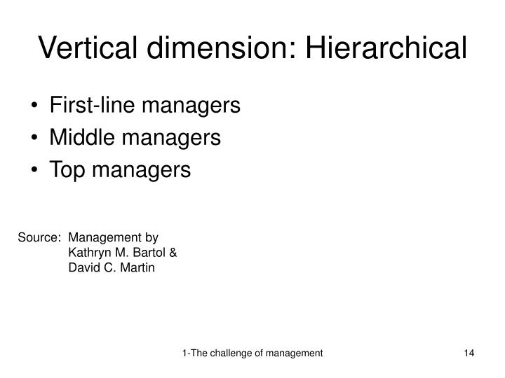 Vertical dimension: Hierarchical