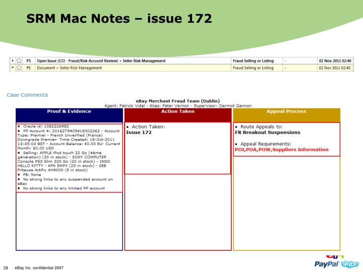 SRM Mac Notes – issue 172