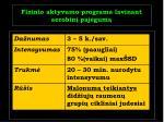 fizinio aktyvumo programa lavinant aerobin paj gum