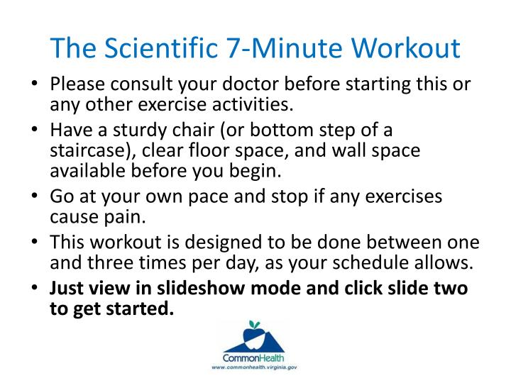 the scientific 7 minute workout n.