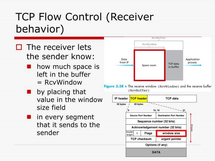 TCP Flow Control (Receiver behavior)