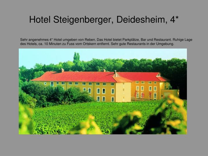 Hotel Steigenberger, Deidesheim, 4*
