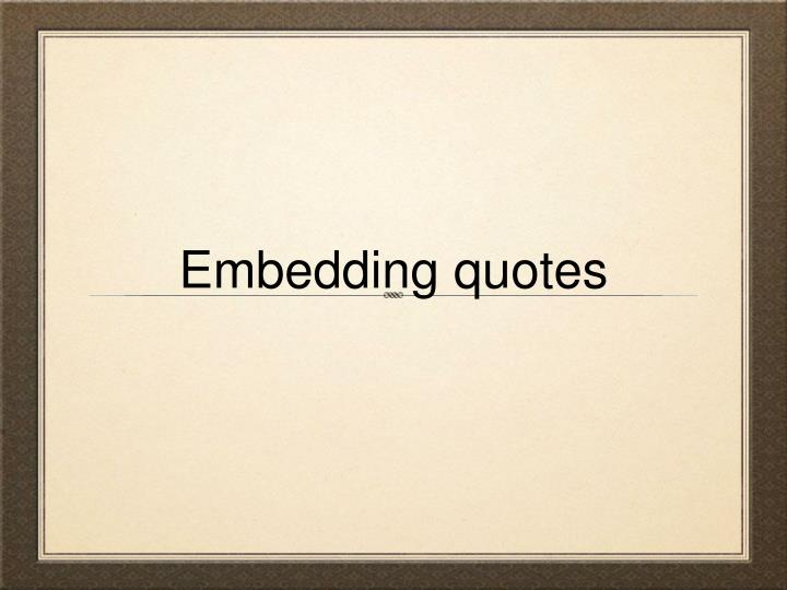 embedding quotes n.