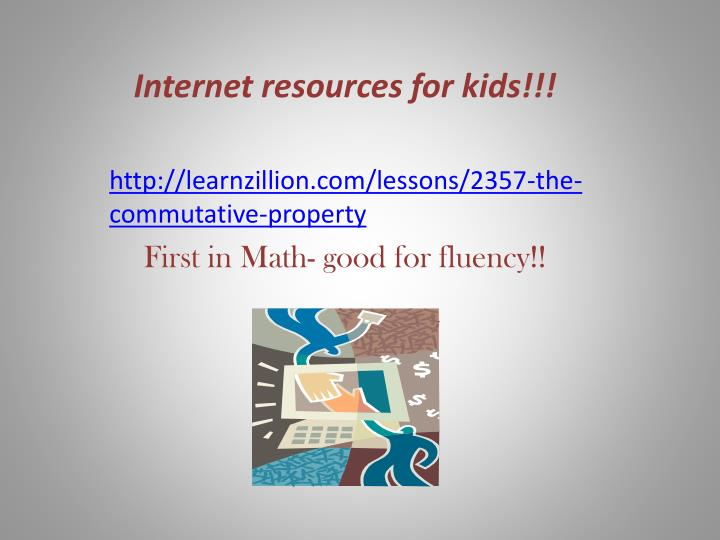Internet resources for kids!!!