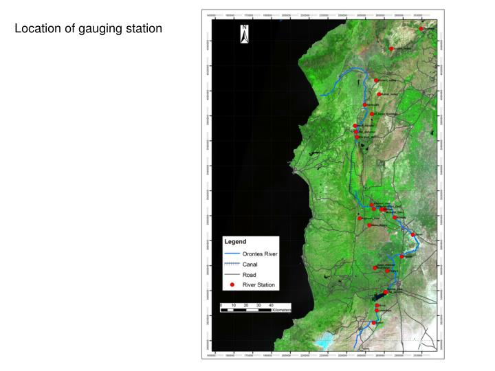 Location of gauging station