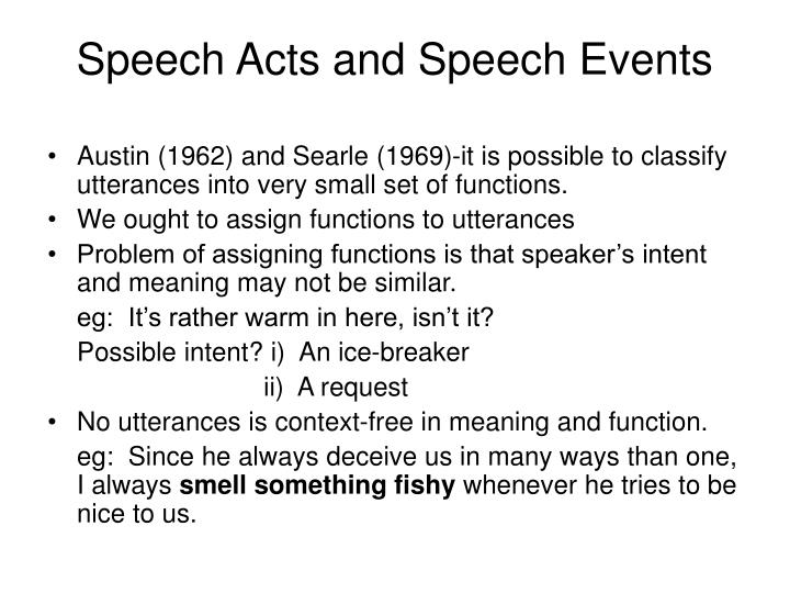 early communication beyond speech act theory Survey of communication study/chapter 5 - communication it is essential that we go beyond personal theories to western journal of speech communication.
