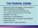 the federal scene