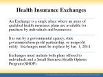 health insurance exchanges1