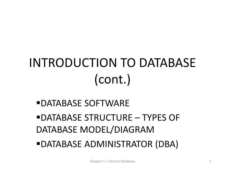 introduction to database cont n.