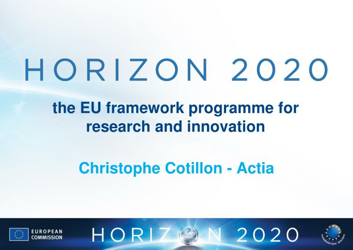 the eu framework programme for research and innovation n.