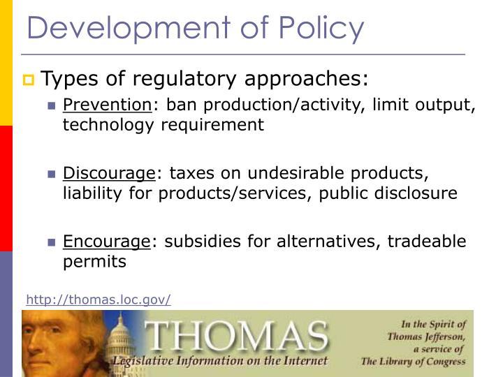 Development of Policy