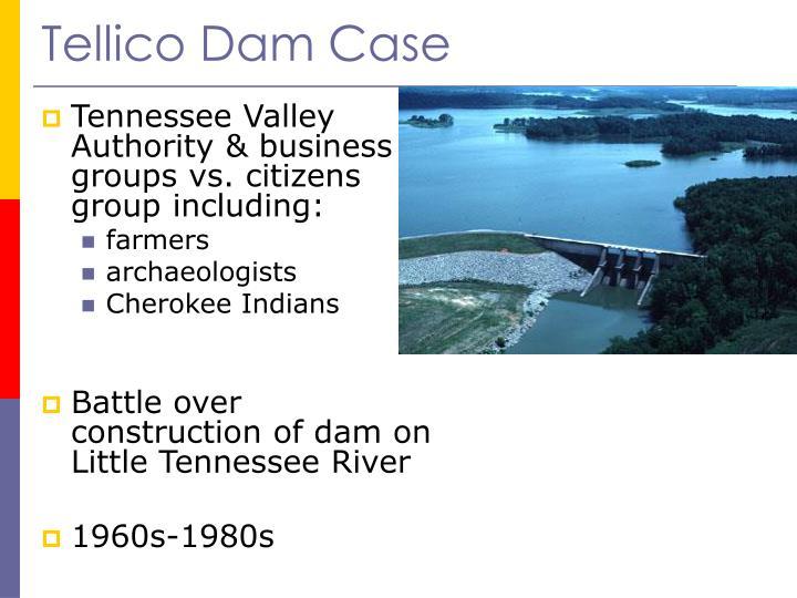 Tellico Dam Case