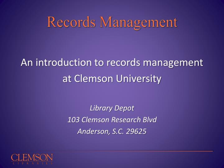 records management n.