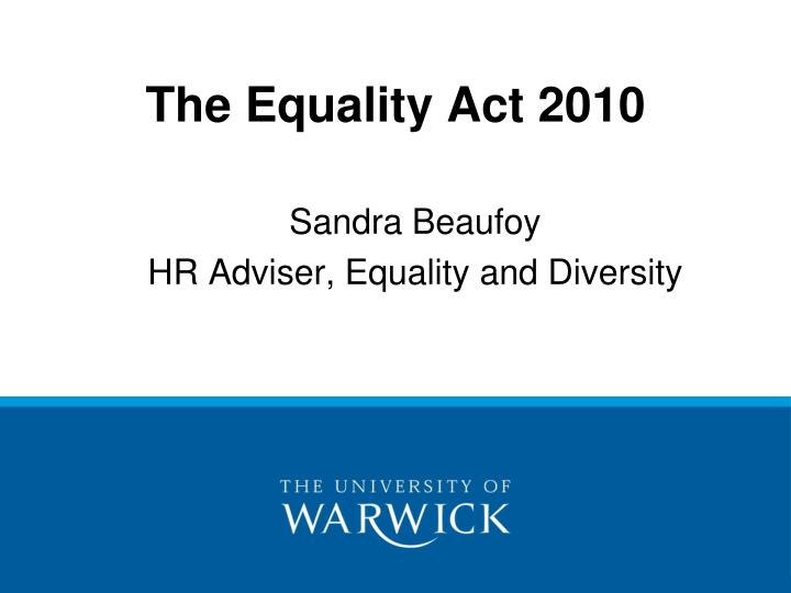 the equality act 2010 n.