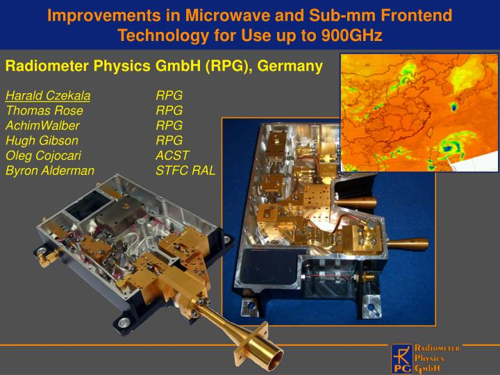 improvements in microwave and sub mm frontend technology for use up to 900ghz n.