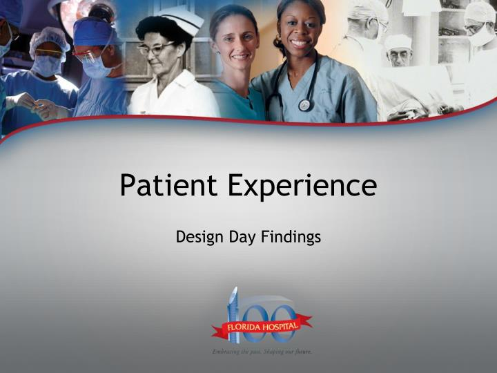 patient experience n.