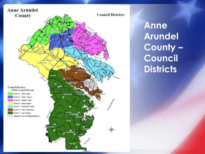 Anne Arundel County – Council Districts