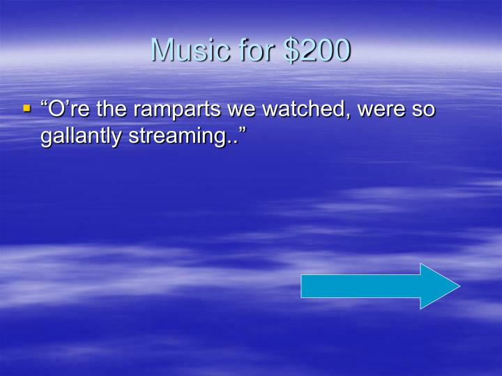 Music for $200