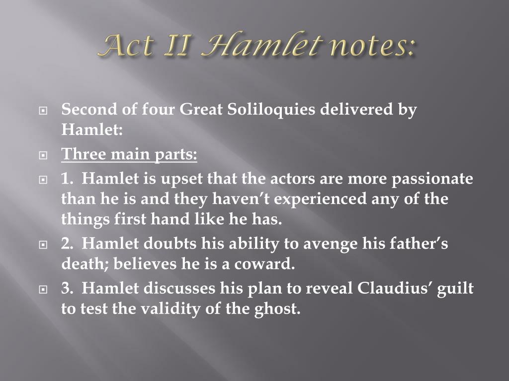 PPT - Notes on Hamlet Act II PowerPoint Presentation, free ...
