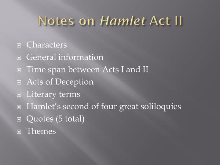 seventh soliloquy of hamlet Accurate list of hamlet's soliloquies the officer leaves, hamlet's guards withdraw, and hamlet begins his seventh and final soliloquy by exclaiming.
