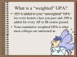 what is a weighted gpa