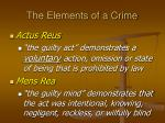 the elements of a crime1