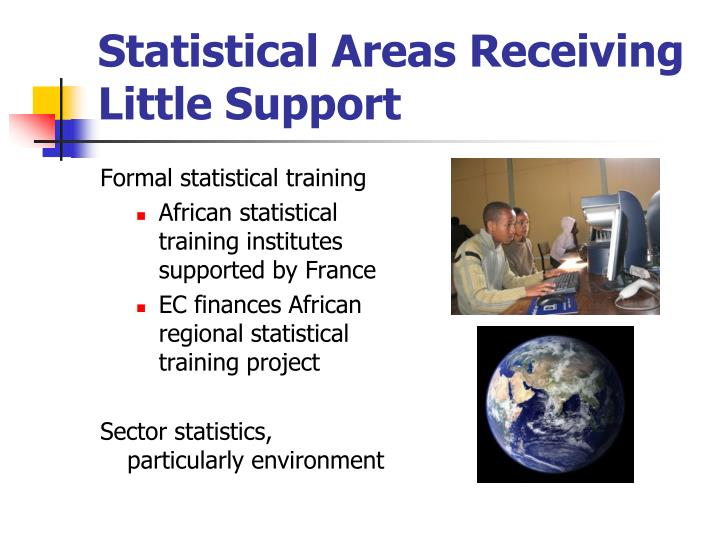 Statistical Areas Receiving Little Support