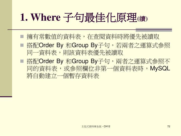 1. Where