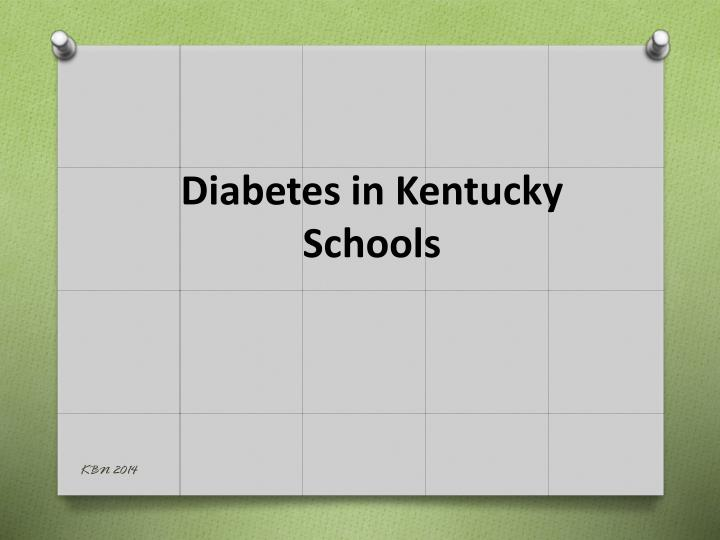 diabetes in kentucky schools n.