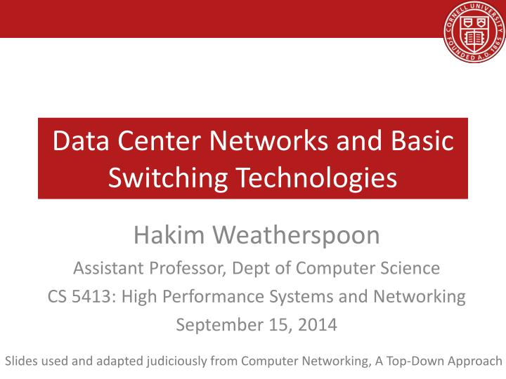 data center networks and basic switching technologies n.