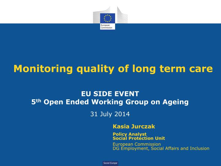 monitoring quality of long term care n.