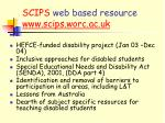scips web based resource www scips worc ac uk