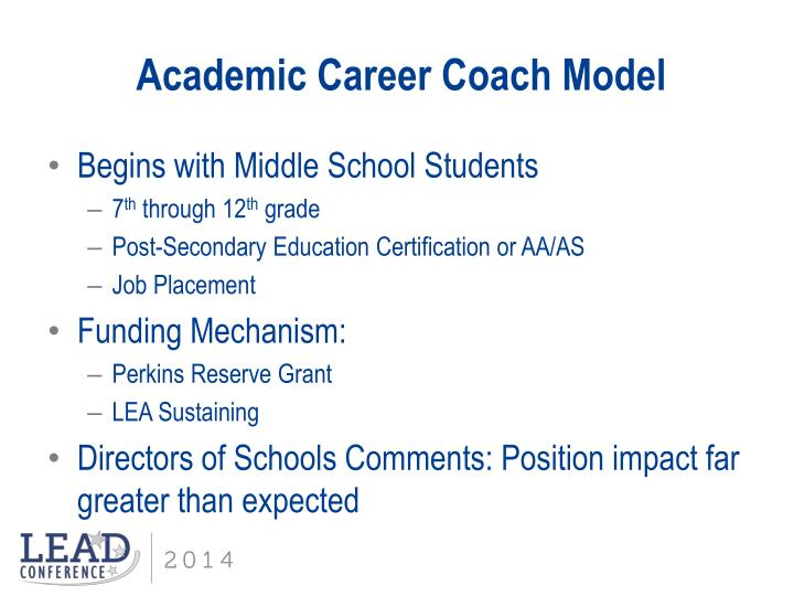Academic Career Coach Model