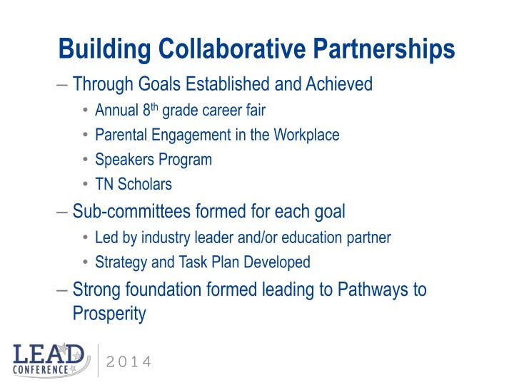 Building Collaborative Partnerships