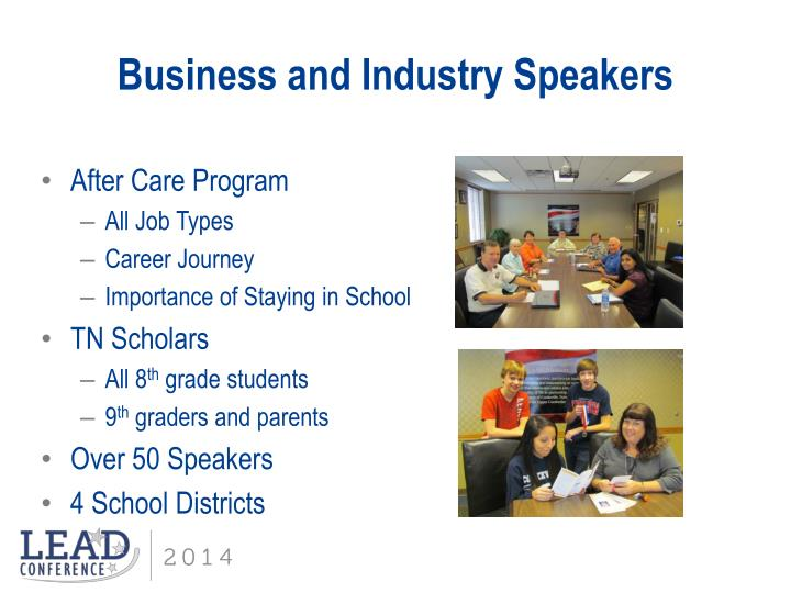 Business and Industry Speakers