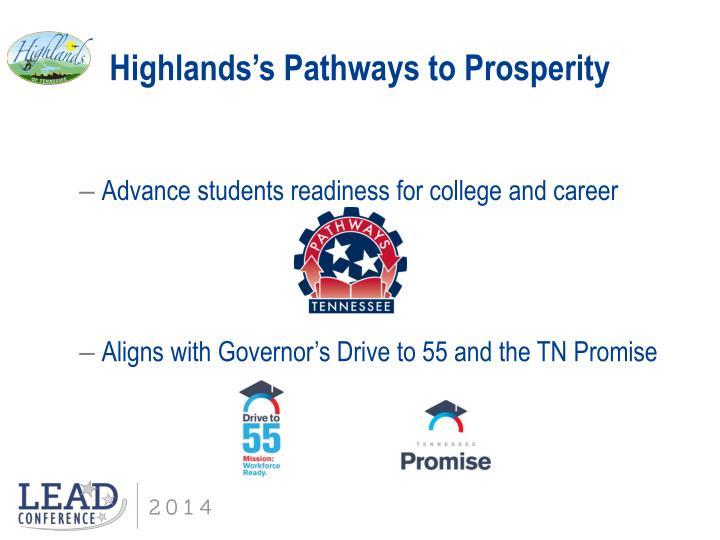 Highlands's Pathways to Prosperity