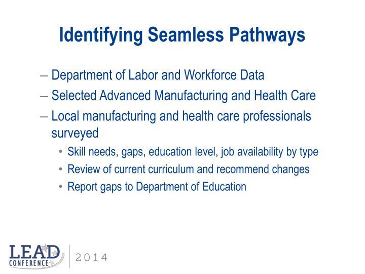 Identifying Seamless Pathways