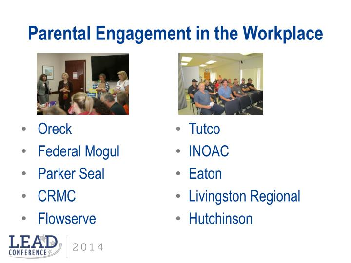 Parental Engagement in the Workplace