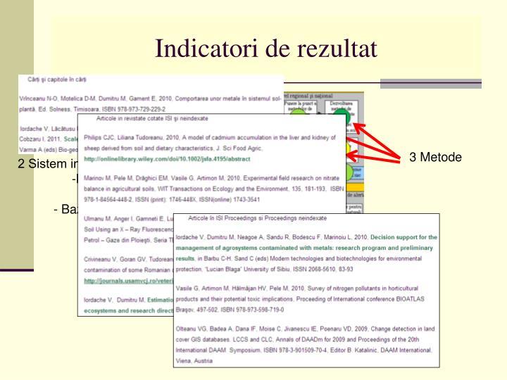 Indicatori de rezultat