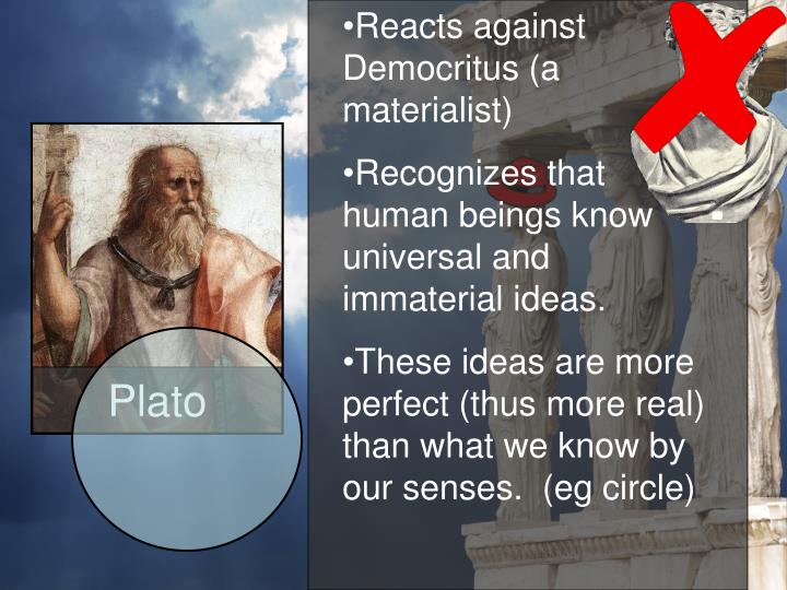 plato a reaction paper What is your response to plato's allegory of the cave plato was referring to the primitive mind upon enlightenmentin his view most of us are.