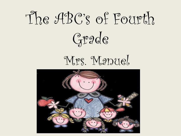 the abc s of fourth grade n.