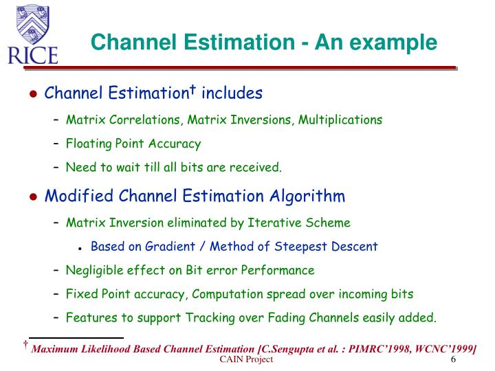 Channel Estimation - An example