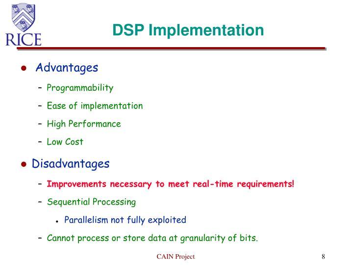 DSP Implementation