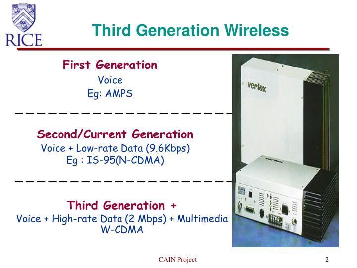 Third generation wireless